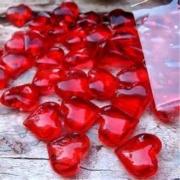 Joyas de San Valentín corazón de acrílico decorativo