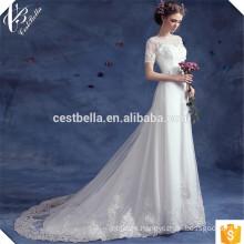 Venta de vestidos de novia baratos de la trompeta de la sirena con el vestido de Mariee Sirene TS583 del tren