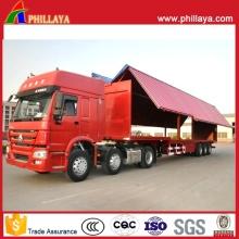 Стальные коробки Ван гидравлической стороны крыла открытых грузовиков полуприцеп