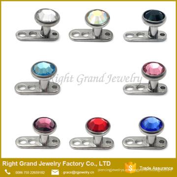 Venta al por mayor joyería piercing del cuerpo G23 Titanium Dermal Anchor piercing
