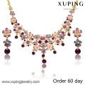 S-7 Xuping 2016 dernière conception populaire mode bijoux africains perles ensemble