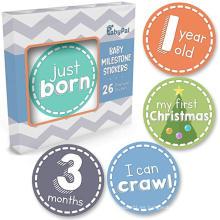 Etiquetas engomadas mensuales del vinilo del jalón de la foto del bebé del OEM