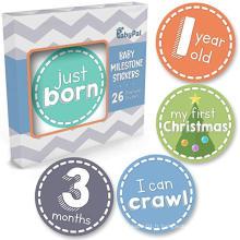 Autocollants en vinyle de jalons mensuels pour photo OEM bébé