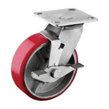 Rueda industrial de la rueda de 6 pulgadas con el freno