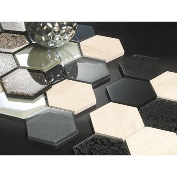 Hexagone grand froid Spray décoration mosaïque