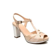 2018 china thick heel sandals custom shoe manufacturers logo shoe