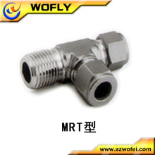 stainless steel Hexagon Head Code Equal shape male run tee tube fittings