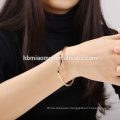 OEM Italy Design heart charm leather bracelet wholesale