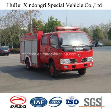 3ton Dongfeng Water Tank Fire Truck Euro 4