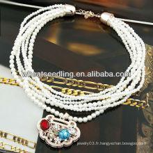 Perle luxuriante avec pendentif à col roulé Lucky Lock 08100829