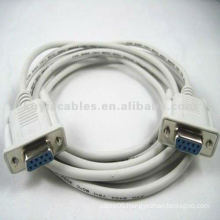 Beige Serial DB9 Extension Cable Female to female 3meter