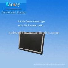 8-Zoll-LCD-Monitor mit offenem Rahmen und großem Bildschirm