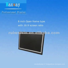 Moniteur d'affichage à cristaux liquides de cadre ouvert de 8 pouces avec l'écran large