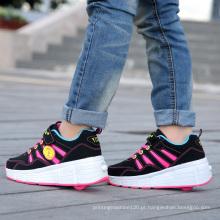 Moda Nome Brand Factory Shoes Skate para Crianças, Homens Roller Skate Sapatos para Adultos, Sport Roller Shoes com Retrátil Wheels