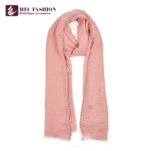 HEC Chinese Popular Cheap All Season Pink Polyester Women Uniform Scarf