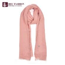 Хек популярный китайский дешевый всесезонные розовый полиэстер женщин униформа шарф