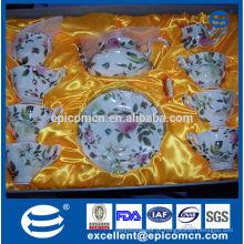 Graça chá ware placas, quente vendendo chinese new bone China chá conjunto, pote de chá com tampa