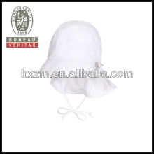 kids white cotton flap caps