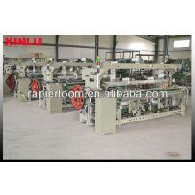 Máquina de tecelagem de tecido branco liso