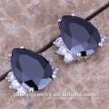 Fashion pear cut dubai gold stud earrings for women