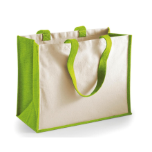 Wholesale light green jute gift handbag