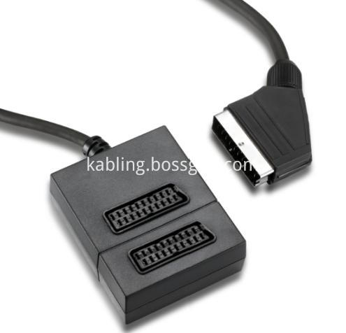 scart to 2 scart adapter