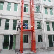 Elevador de carga hidráulico eléctrico de almacén fijo