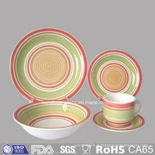 Conjunto de Dinneware de grés de microondas seguro