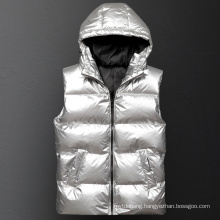 Men′s Winter Hooded Cotton-Padded Thickening Vest