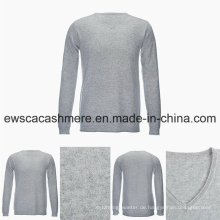 Männer V-Ausschnitt Solid Color Casual Style Bestnote Pure Cashmere Sweater