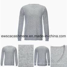 Мужская V-образным вырезом сплошной Цвет повседневный Стиль высший сорт чистый кашемир свитер