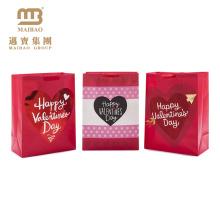 Kundengebundene gedruckte kleine rote farbige Valentinsgruß-Tagespapier-Geschenktasche