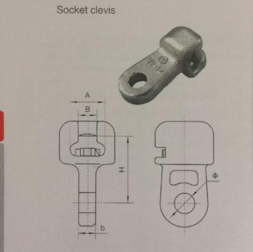 Overhead Line Accessories Socket Clevis