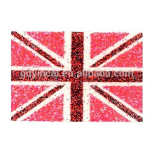 Red flag colorful patterns safe body glitter powder tattoo sticker