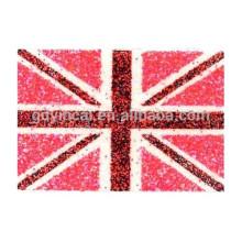 Padrões coloridos de bandeira vermelha seguro corpo glitter pó adesivo de tatuagem
