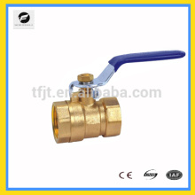 CWX-series 2pcs válvula de bola de latón, válvula de bola de cobre amarillo cw617n, válvula de bola niquelada