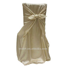 self-tie back chair cover,CT318 satin chair cover,universal chair cover