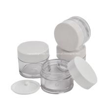 Petits pots en plastique cosmétiques conçus sur mesure pour récipients PETG avec bouchon à vis en plastique