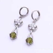 25655 Vente Chaude De Mode Élégant CZ Diamant Rhodium-Plated Imitation Bijoux Boucle D'oreille