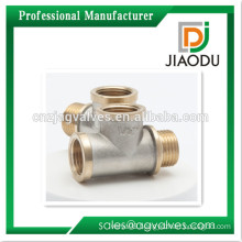 1/2 inch 3/4 Inch DN15 DN20 Female Brass/ Nickel plated /Chrome plated,nautre Yellow thread nautre Brass Tee