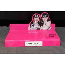 Présentoir de caméra acrylique en couleur rose