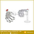 Skeleton Hand Crystal Flexible Bioplastic Labret Monroe lip tragus piercing bar body jewelry Ring