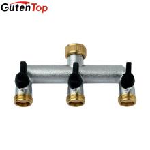Latón Gutentop que forja el calentador de 3 vías del agua de calefacción de suelo
