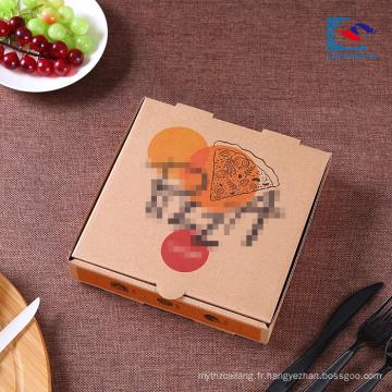 Haute Forte logo personnalisé ondulé Pizza papier boîte