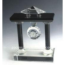 Reloj cristalino de la tabla del rectángulo K9 del rectángulo de la moda para los favores de la oficina / los regalos del negocio Reloj cristalino más nuevo del escritorio del diseño para los comp