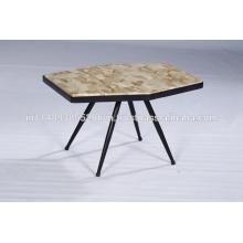 Pieds en bois naturel et en métal Salle de séjour Table basse industrielle