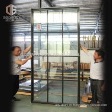 Mejor aislamiento térmico, perfil de 67 mm, revestimiento de pino, corte térmico, aluminio, gris, ventana abatible