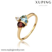 13098- Xuping 18k banhado a ouro jóias por atacado anel de casamento de luxo