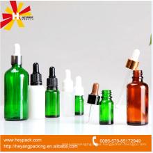 Botella de cristal cosmética del cuentagotas 5ml