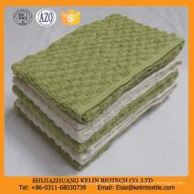 barato toalla de cocina disponible teñida llana de la galleta de la tela del waffle teñido llano del 10s el 80% cotton + 20%